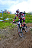Mountainbike Downhill Royalty Free Stock Photos