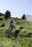 Mountainbike extrem dowhnill Stock Photo