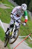 Mountainbike para baixo Fotografia de Stock