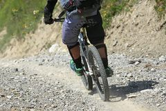 Mountainbike_path Fotografia de Stock