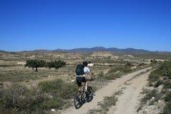 Mountainbike-reis in Spanje royalty-vrije stock foto