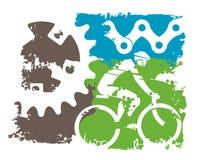 Mountainbike-Schmutzhintergrund lizenzfreie abbildung