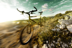 Mountainbike Stockfoto