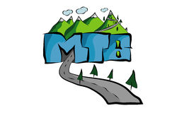 mountainbikedesign Royaltyfri Fotografi