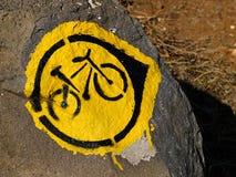 Mountainbikeförsöktecken Royaltyfria Bilder