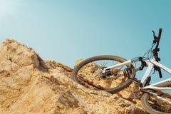 Mountainbikefahrten Lizenzfreie Stockfotos