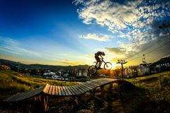 Mountainbikehopp Fotografering för Bildbyråer