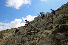 Mountainbiker Stock Images