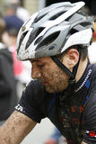 Mountainbiker sporco Fotografia Stock Libera da Diritti