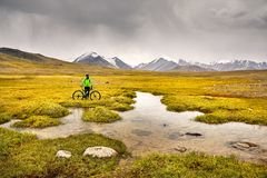 Mountainbikereiter Lizenzfreies Stockbild
