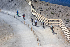Mountainbikers Royalty Free Stock Photo
