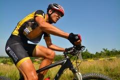 Mountainbikeryttare Fotografering för Bildbyråer