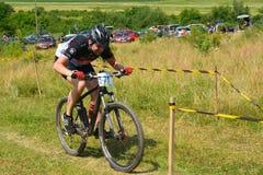 Mountainbikeryttare Royaltyfri Bild