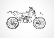 Mountainbikevektor Arkivfoto