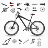 Mountainbikevektorillustration Lizenzfreies Stockbild