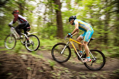 Mountainbikewettbewerb Stockfoto