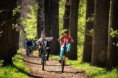 Mountainbikewettbewerb Stockbild