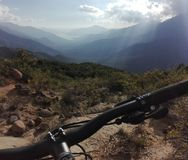 Mountainbiking Χιλή στοκ εικόνες με δικαίωμα ελεύθερης χρήσης