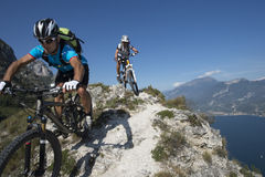 Mountainbiking - mountain bike Fotografie Stock