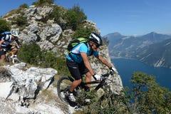 Mountainbiking - Mountain bike. Mountainbike downhill on garda lake Royalty Free Stock Photo