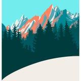 Mountaine landskapbakgrund vektor illustrationer