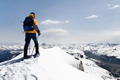 Mountaineer. Guide in the Pirineo stock photos