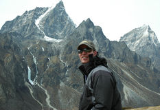 Mountaineer. In the Himalaya Royalty Free Stock Photo