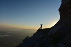 Mountaineer ,adventurer, and successful human Stock Photography