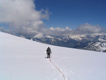 Mountaineer descending Royalty Free Stock Photos