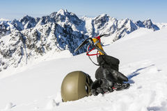 Mountaineer equipment Royalty Free Stock Photo