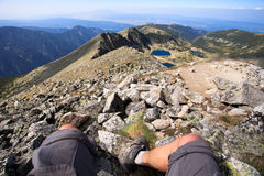 Mountaineer feet Royalty Free Stock Photo