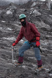 Mountaineer on a glacier Royalty Free Stock Images