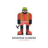 Mountaineer logo vector Stock Photography