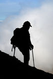 Mountaineer silhouette Stock Photo