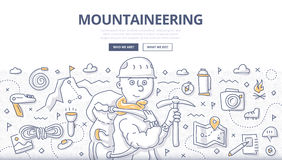 Mountaineering Doodle Concept Royalty Free Stock Image
