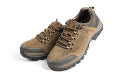 Mountaineering hiking shoes Stock Images