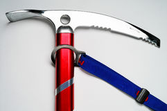 Mountaineering: Ice axe. With short wrist loop Royalty Free Stock Image
