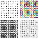 100 mountaineering icons set vector variant. 100 mountaineering icons set vector in 4 variant for any web design isolated on white vector illustration