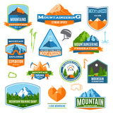 Mountaineering Labels And logos Royalty Free Stock Photos