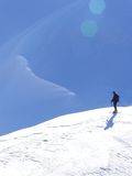 mountaineering narta obraz stock
