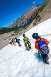 Mountaineering school for children Royalty Free Stock Image