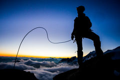 Mountaineering Royalty Free Stock Photos