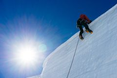 Mountaineering sport Royalty Free Stock Photography