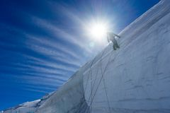 Mountaineering sport Stock Images