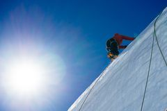 Mountaineering sport Royalty Free Stock Image