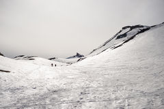 Mountaineering towards the mountain top Royalty Free Stock Photography