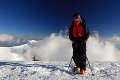 Mountaineeron a fuga Imagem de Stock Royalty Free