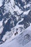 Mountaineers in French Alps Royalty Free Stock Image