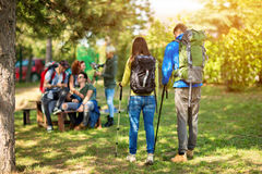 Mountaineers make break to refresh and relax Stock Images