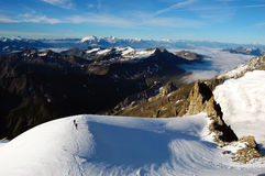 Mountaineers Mont Blanc 3 stock photo